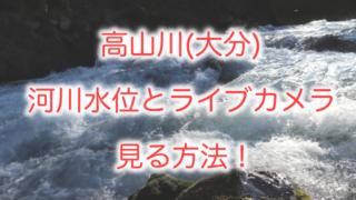 高山川の水位を確認する方法