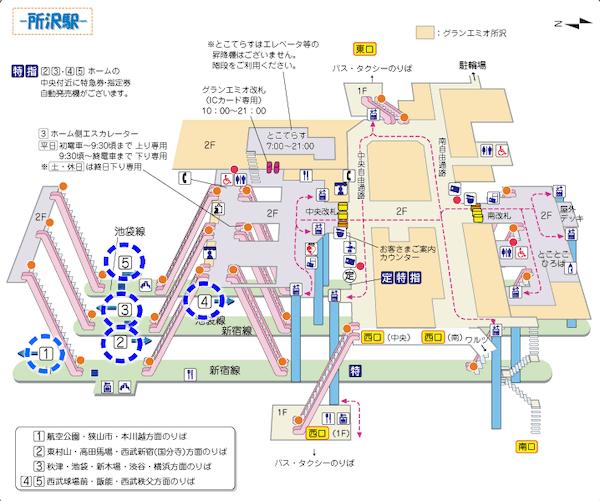 所沢駅ホーム