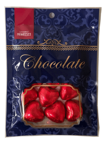 ハート型ミルクチョコレート