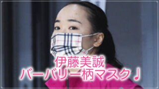 伊藤美誠のバーバリーマスク