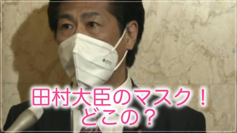 田村大臣のマスク
