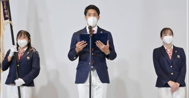 東京五輪 日本選手団 団結式画像