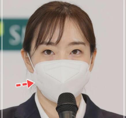 石川佳純の五輪団結式のマスク