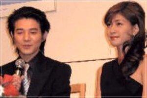 結婚を報告する内田有紀と吉岡秀隆